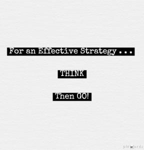 for an effective strategy