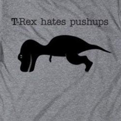 trex hates pushups