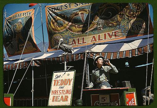 carnival barker vermont state fair